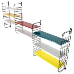 Multicolored Metal Wall Rack by Adrian Dekker for Tomado Holland, 1953