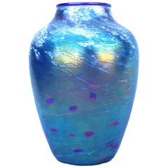 Multicolored Metallic Vase Strini Glass