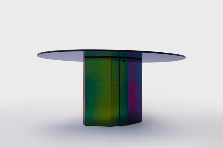 Modern Multicolored Oval Dining Table 'Polygonon' by Afra & Tobia Scarpa for B&B Italia For Sale