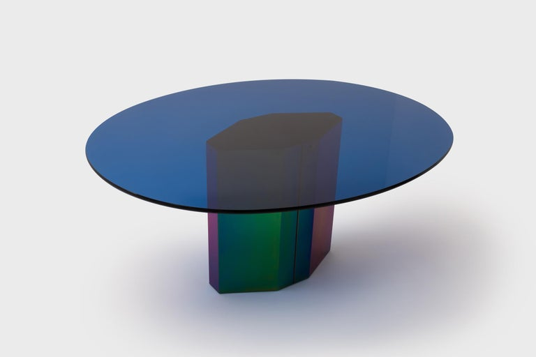 Multicolored Oval Dining Table 'Polygonon' by Afra & Tobia Scarpa for B&B Italia In Good Condition For Sale In Rotterdam, NL