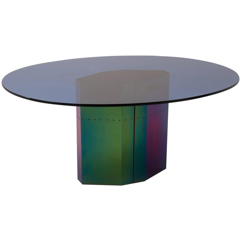 Multicolored Oval Dining Table 'Polygonon' by Afra & Tobia Scarpa for B&B Italia For Sale