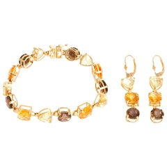 Multicolored Quartz and Citrine Set