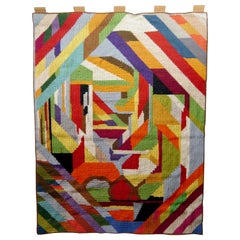 Multicolored Scandinavian Modernist Wall Tapestry, Early 20th Century