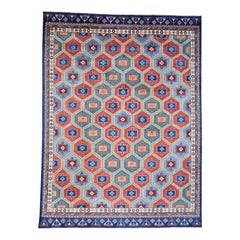 Multicolored Special Kazak Hand Knotted Pure Wool Oriental Rug