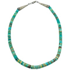 Multicolored Turquoise, Pucka Style Necklace