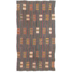 Multicolored Vintage African Ewe Fabric from West Africa, Ghana