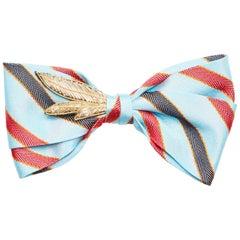 Multicoloured silk embellished handmade papillon NWOT