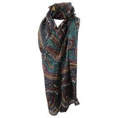 Multicoloured silk scarf - foulard