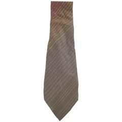 Multicoloured silk tie