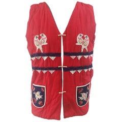 Multicoloured vintage vest
