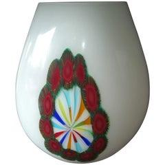 Multicolored Italian Blown Glass Vase