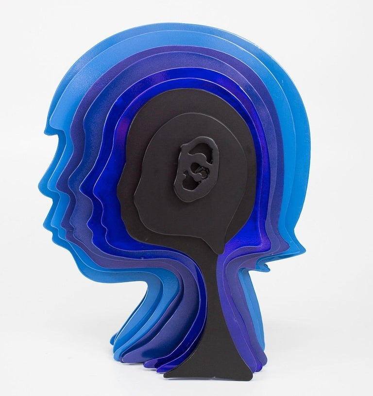 """Thank you for your interest in the """"Multidimensional's Head,"""" a unique sculptural piece that will bring a statement to any interior decor or landscaping. The sculpture was created in 2018 by this talented Artist/Painter Kohn based here in Miami. The"""