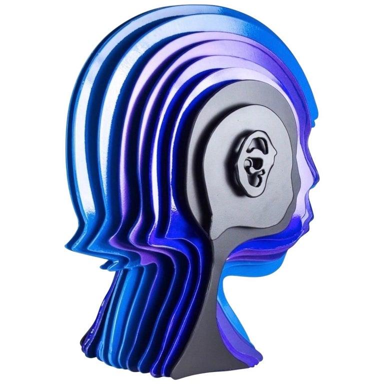 """Multidimensional's Head"" Sculpture by Rudolf Kohn, USA, 2018 For Sale"