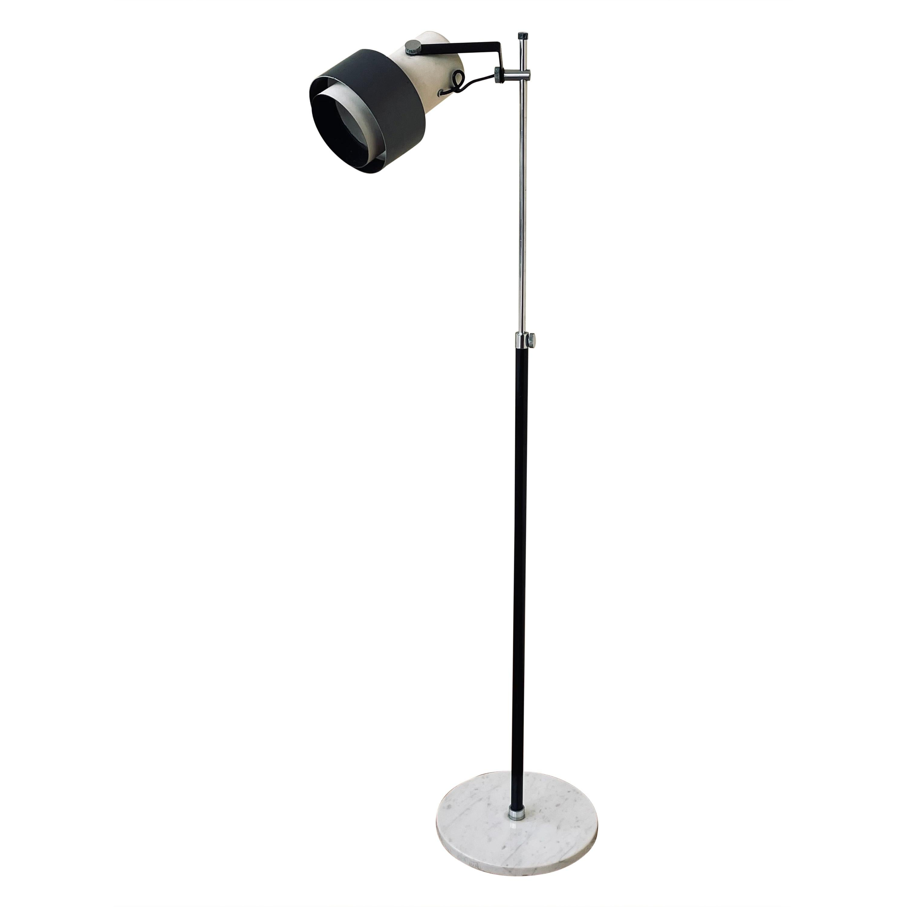 Multidirectional Floor Lamp by Arteluce with Marble Base