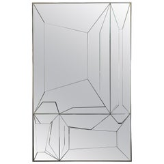 Multifaceted Glass Mirror Attributed to Neal Small