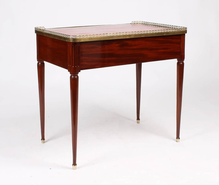 Hand-Crafted Multifunctional Table, Dressing, Chess, Writing Desk, Mahogany, 19th Century For Sale