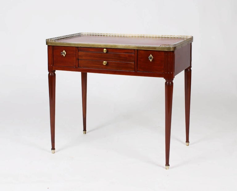 Early 19th Century Multifunctional Table, Dressing, Chess, Writing Desk, Mahogany, 19th Century For Sale