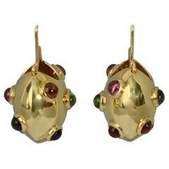 Multigem Circle Hoop Earrings