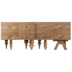 Multileg Walnut Cabinet by Jaime Hayon for BD Barcelona Design