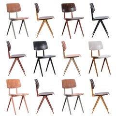 Multiple Industrial Galvanitas S16 Dining Chairs in Various Colors, Netherlands