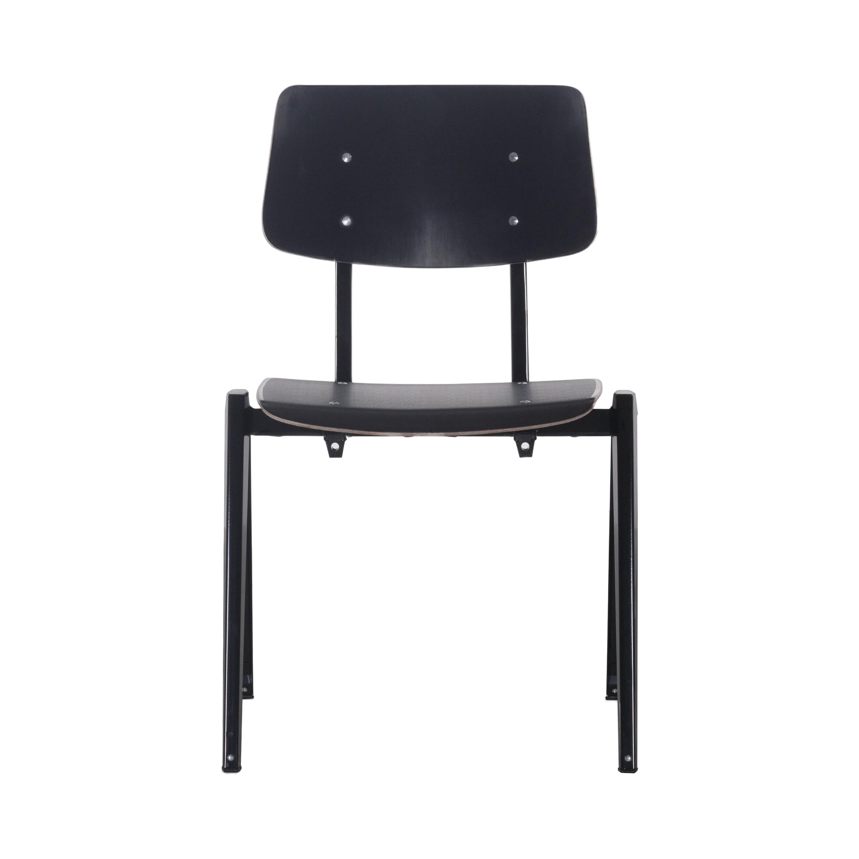 Multiple Industrial Galvanitas S21 stackable Dining Chairs, Netherlands