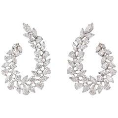 Multishape Diamond Swirl Earring