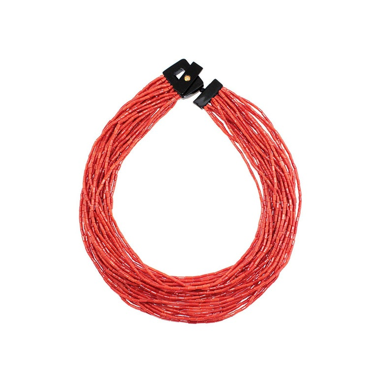Multistrand Coral Necklace For Sale