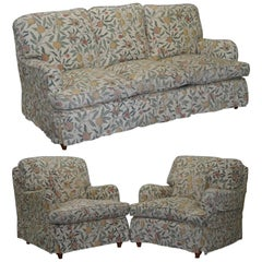 Multiyork Howard Sofa and Pair of Armchairs Suite Floral Upholstery