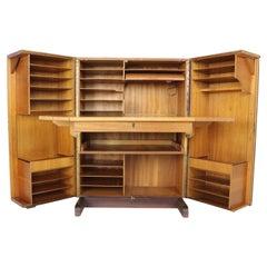 Mummenthaler & Meier Teak 'Magic Box' Fold Out Secretary & Cabinet, 1960