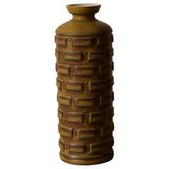 Munk Enköping, Modernist Vase, Stoneware, Sweden, c. 1960s