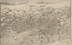 1550 Woodcut of Florence, Italy - FLORENZ, die Stat