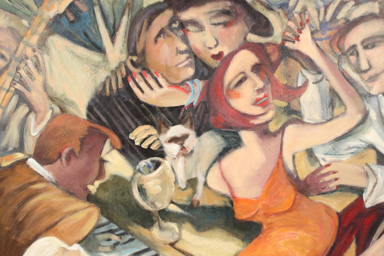Late 20th Century Mural Size Painting by Sandra Jones Campbell For Sale