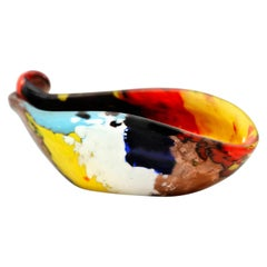 Murano Art Glass Dino Martens Oriente Multi-Color Blown Glass Vessel, 1960s