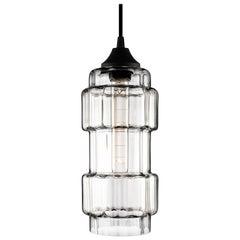 Muralla Crystal Optique Handblown Modern Glass Pendant Light, Made in the USA