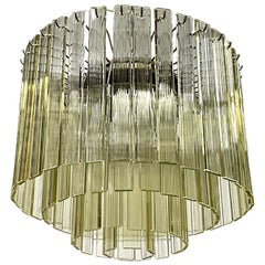 Murano 4-Tier Chandelier with Ridged Glass Blades, 1960s