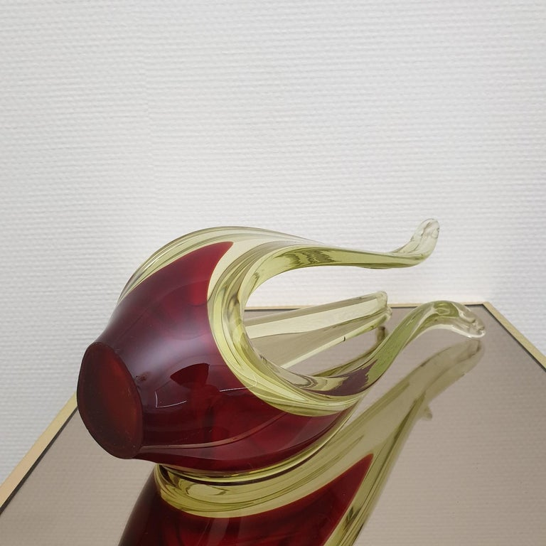 Murano Abstract Glass Table Sculpture by Murano, 1970s For Sale 3