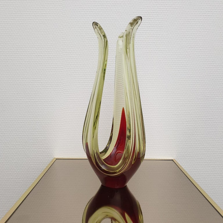 Murano Abstract Glass Table Sculpture by Murano, 1970s For Sale 4