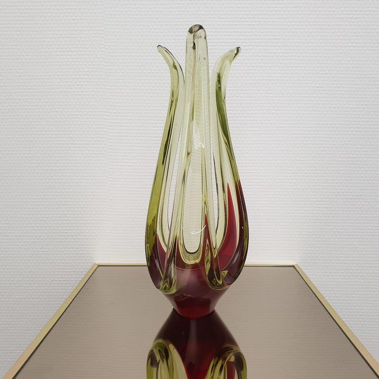 Italian Murano Abstract Glass Table Sculpture by Murano, 1970s For Sale
