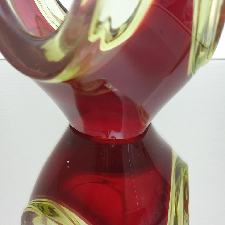 Murano Abstract Glass Table Sculpture by Murano, 1970s For Sale 2