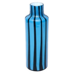 Murano Alfredo Barbini Glass Pinwheel Vase Mid-Century Modern