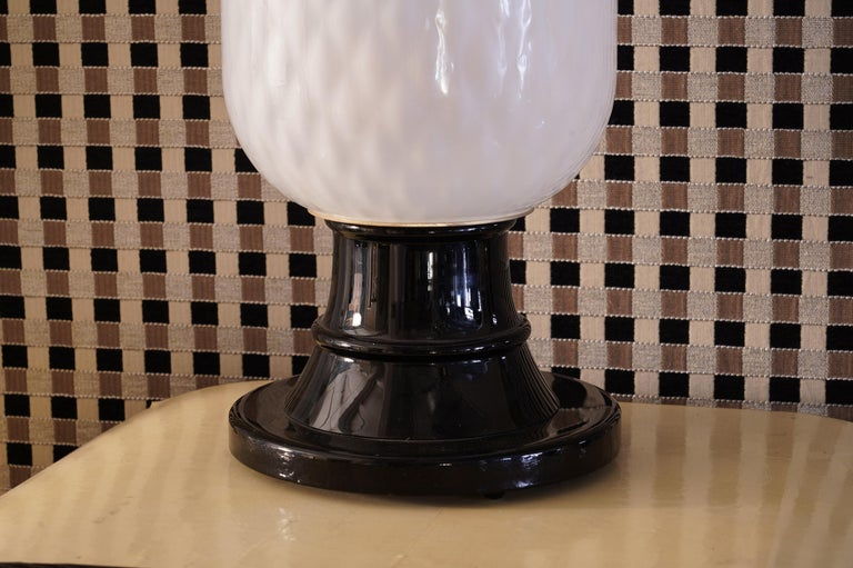 Mid-20th Century Murano Art Glass Italian Midcentury Table Lamps, 1960 For Sale