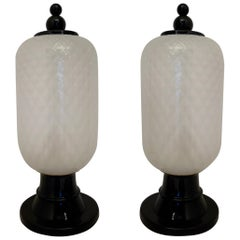 Murano Art Glass Italian Midcentury Table Lamps, 1960