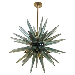 Murano Art Glass Midcentury Italian Chandelier, 1970