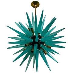 Murano Art Glass Midcentury Italian Chandelier, 1970