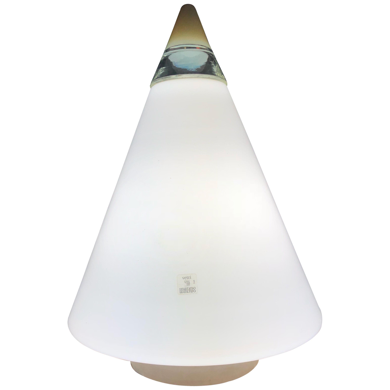 Vetri Rio Lamp Giusto Toso Murano Art Glass opaline 1960s Venini