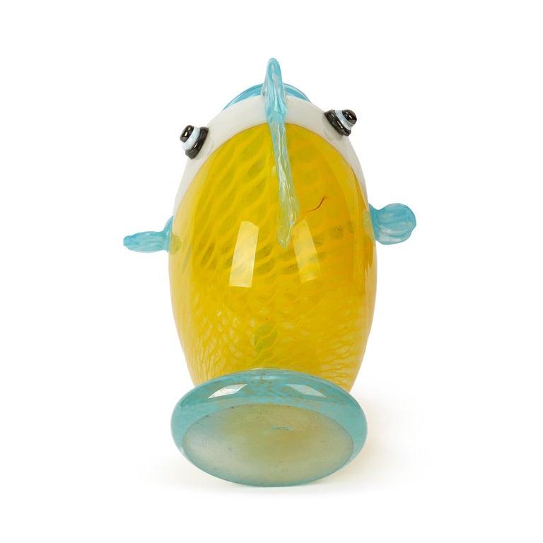 Murano Art Glass Puffer Fish Vase, 20th Century For Sale 2