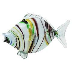 Murano Art Glass Striped Fish, 1950s
