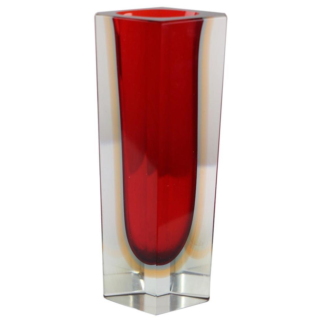 Murano Art Glass Vase by Mandruzatto
