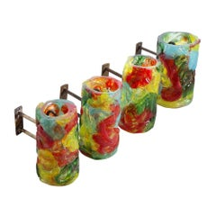 Murano Art Glass Wall Sconces