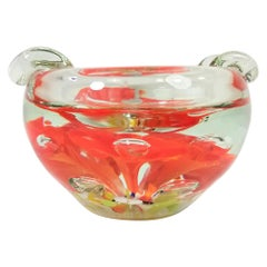 Murano Ashtray Art Glass Midcentury